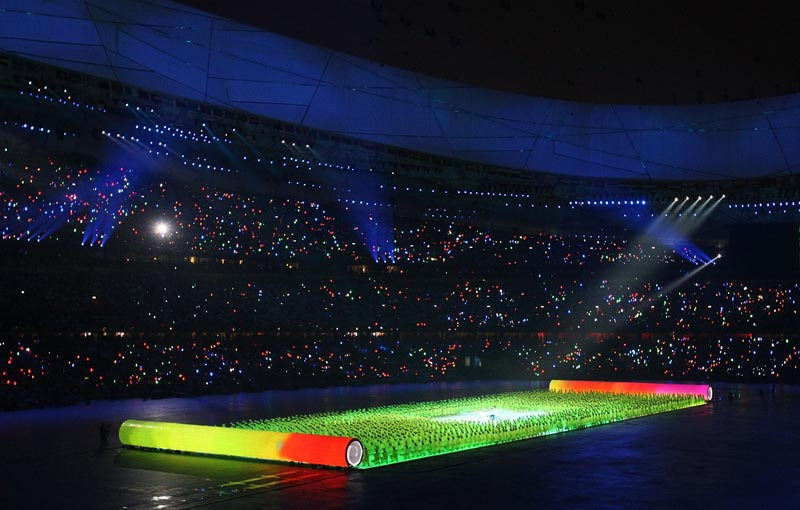 Olympics scroll