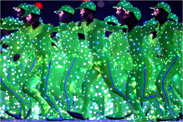 Olympic LED costumes