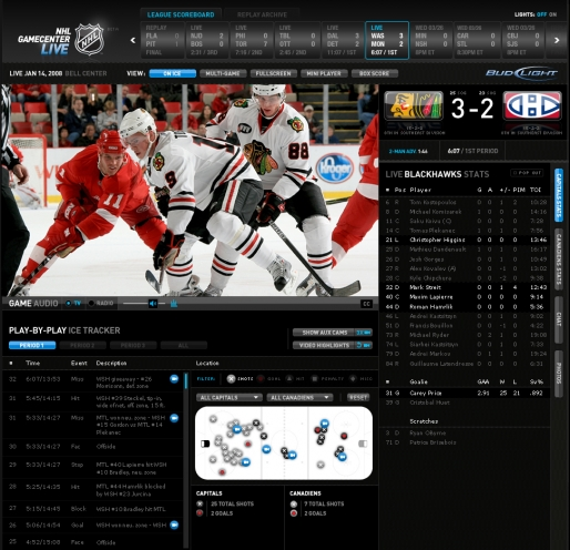 NHL Gamecenter live
