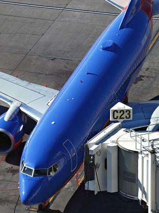 Southwest 737 with radome