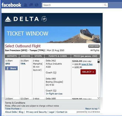 Delta Facebook