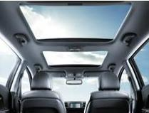 Kia panoramic sunroof