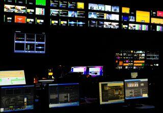 Sapphire media control room