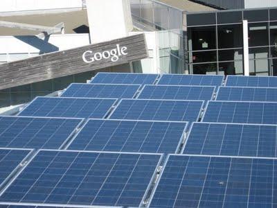 Google campus with solar arrays