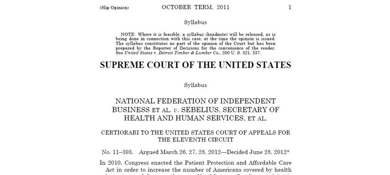 Supreme Court Healthcare