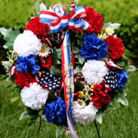 Facebook wreath