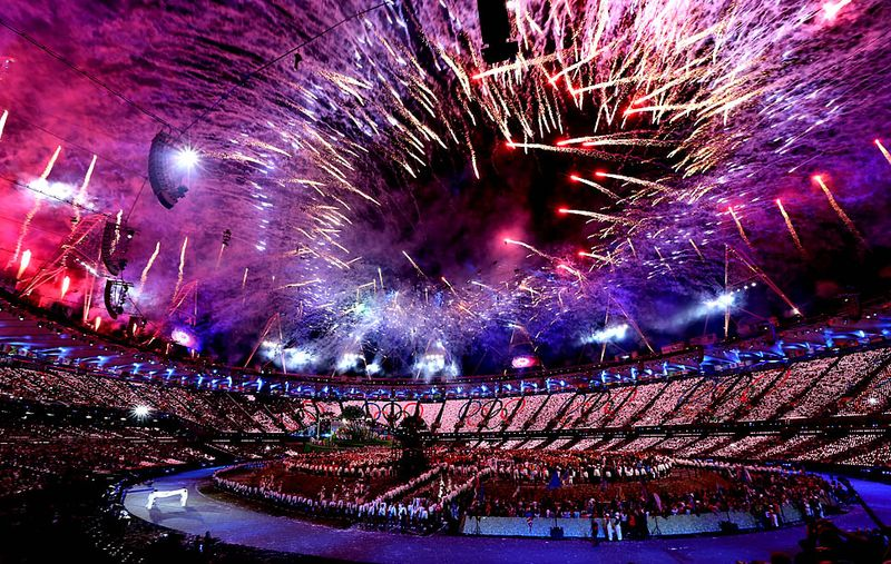 London Olympics fireworks