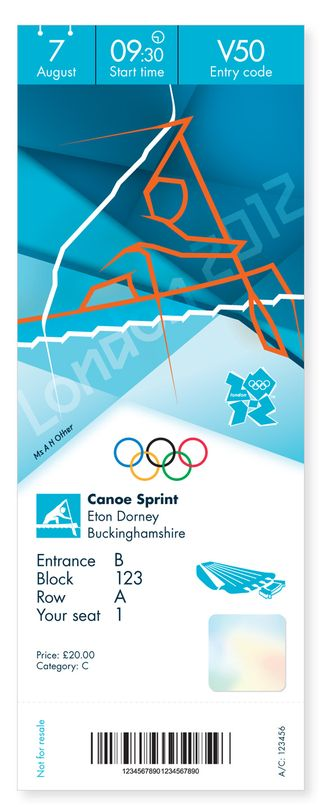 London Olympics kayak_ticket_0