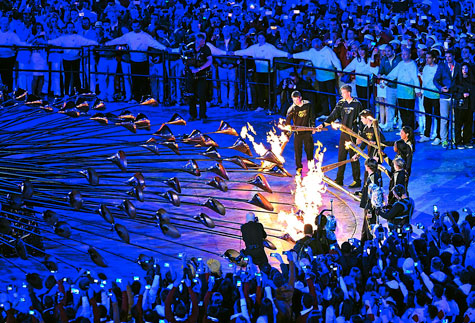 Olympic Cauldron Start