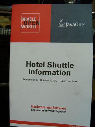 OOW 2012 shuttle