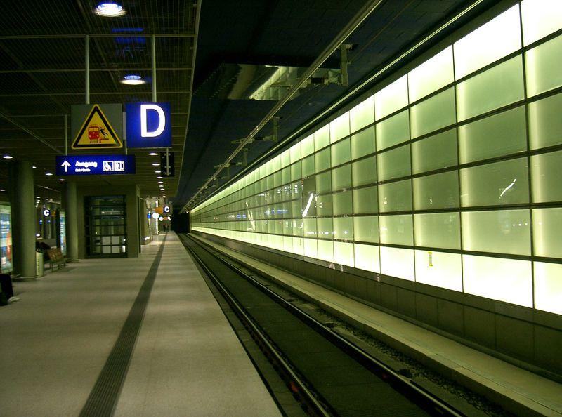 DB Bahn platform zones