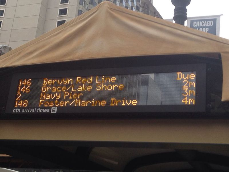 Chicago Bus display