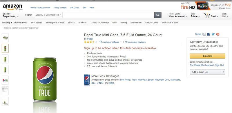 Amazon pepsi true