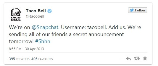 Taco Bell snapchar