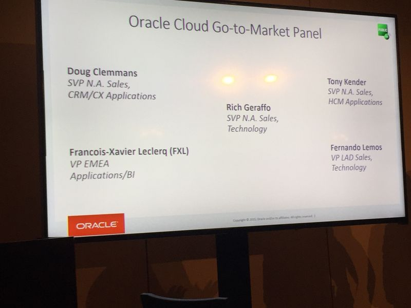 Oracle Sales Panel