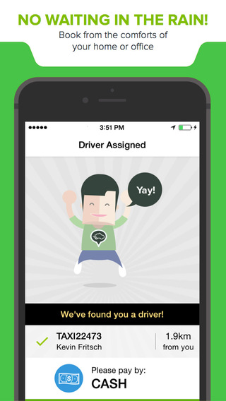 Singapore taxi mobile app