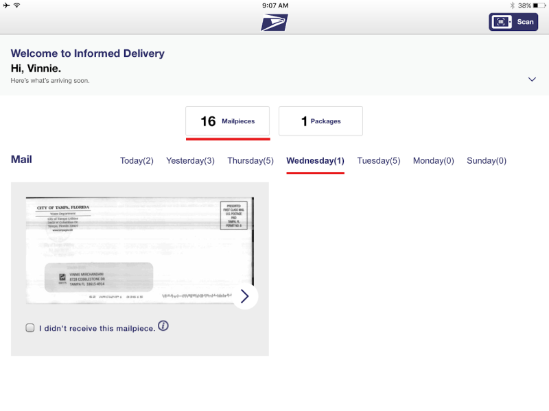 USPS Informed Delivey