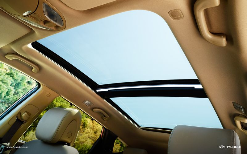 Santa Fe panaromic sunroof