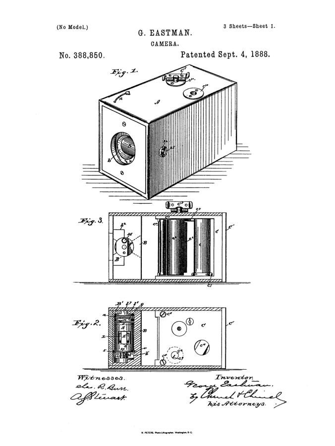Camera patent