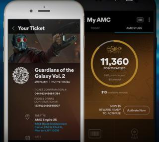 AMC mobile ticket
