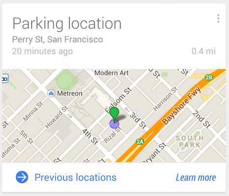 Google Maps Parking Location