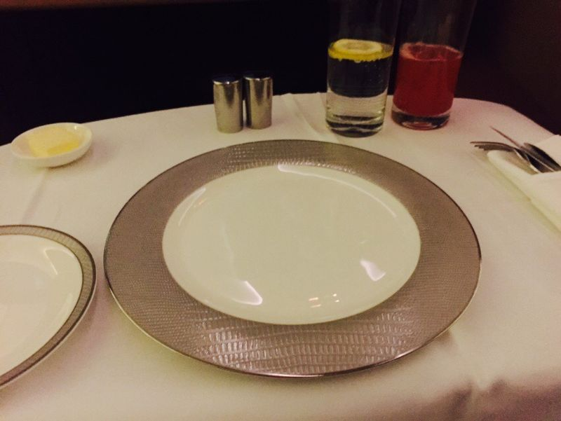 Singapore Air meal service