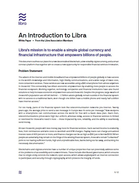 New Florence  New Renaissance : The Libra cryptocurrency