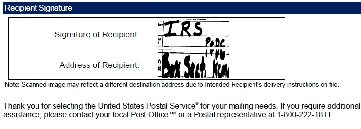 USPS Delivery PDF