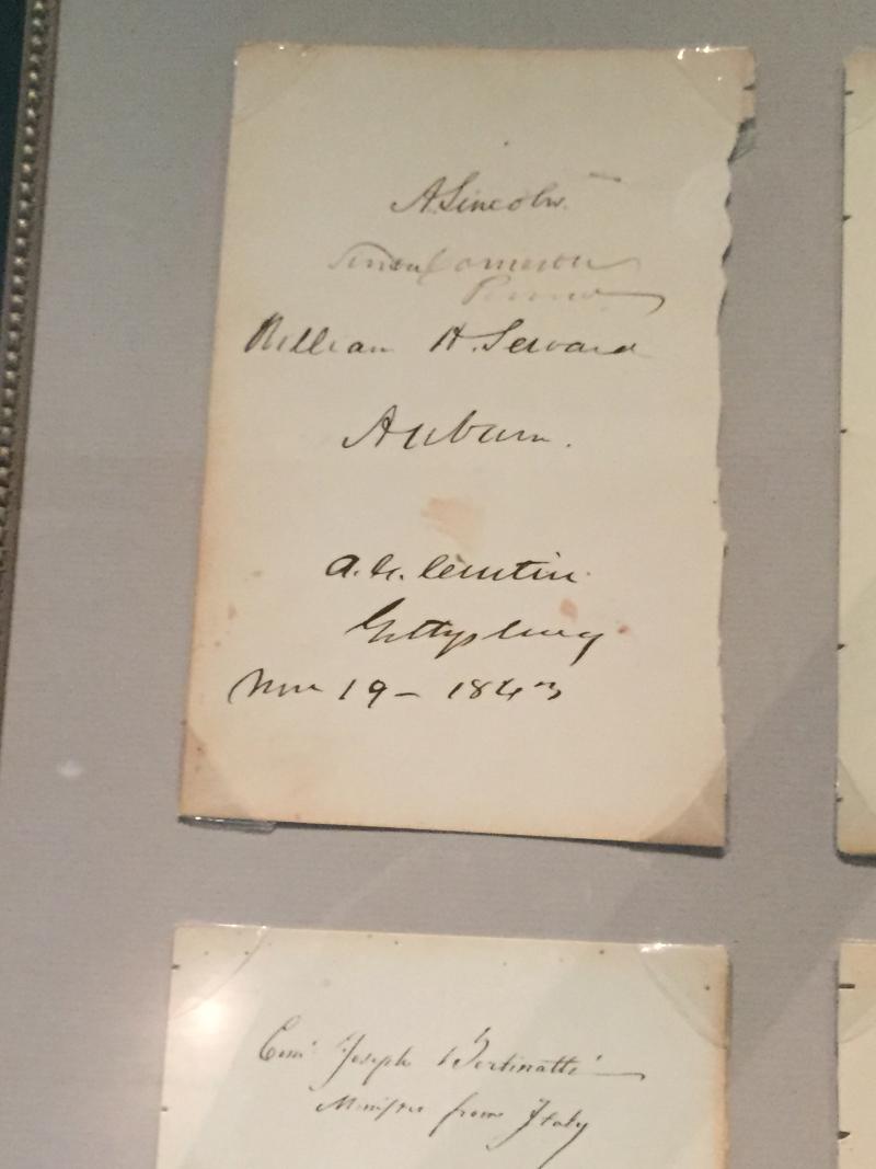 Lilcoln Gettysburg artifact