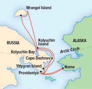 Lindbad Wrangel map