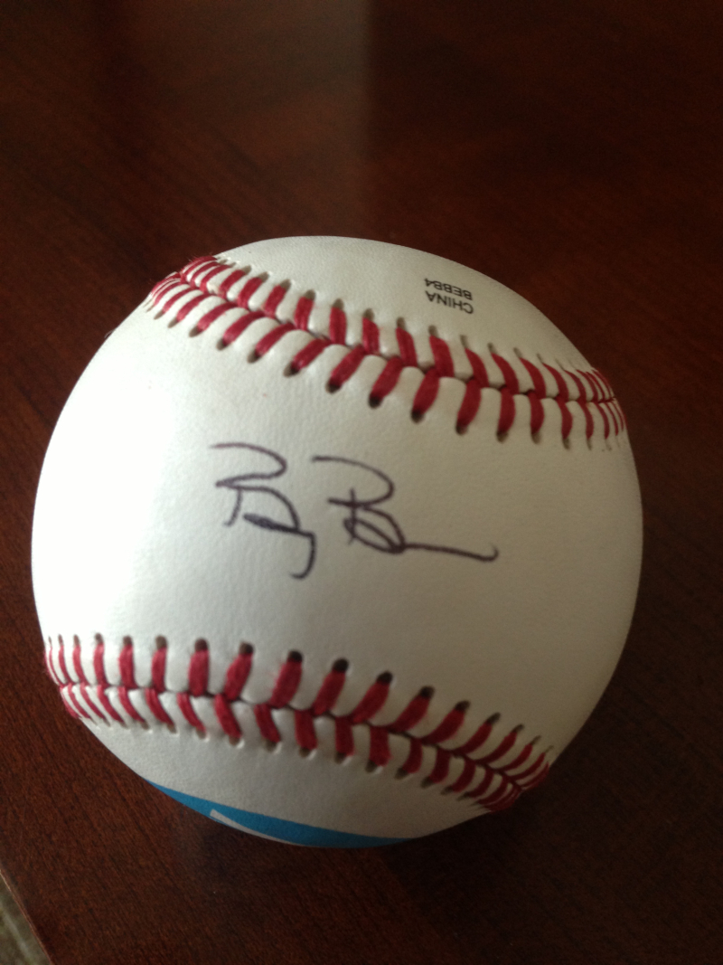 Billy Beane autogpahed ball