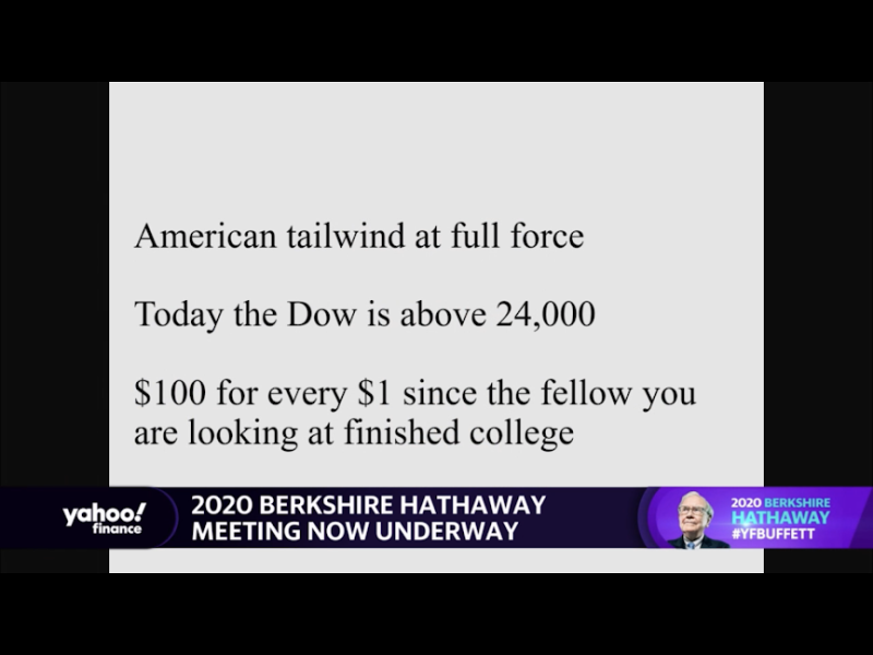 Warren Buffett Dow in last 70 years