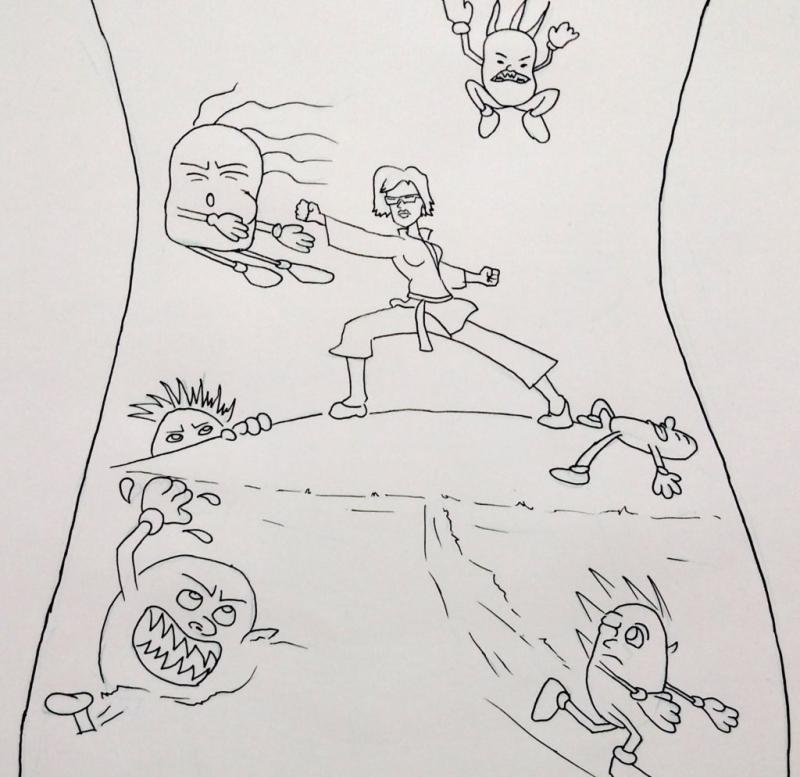Sandy  Diana drawing