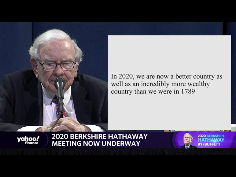Warren Buffett better than in 1789