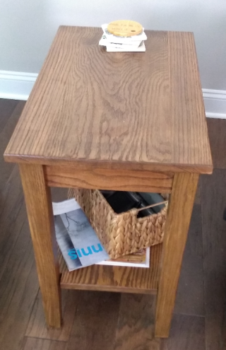 Charlie Oak end table