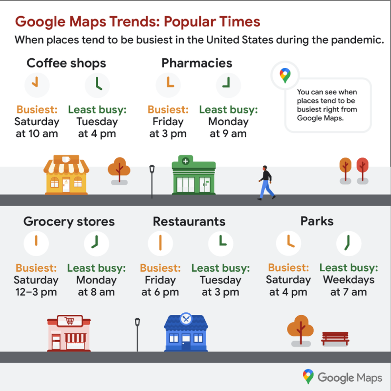 Google Maps Holidays 2020