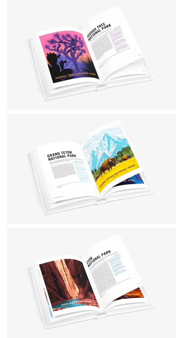 National Parks Book inside